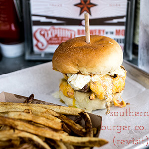 Southern Burger Co. has been through a few incarnations-a truck, then a spot in Warehouse Row, & now a restaurant in Ooltewah. They're a Chattavore top ten!   review from Chattavore.com