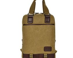 Fancier-Unisex-Casual-Breathable-Canvas-PU-Leather-Backpack-Handbag-Laptop-Bag-Brown-0