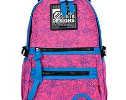 FanselaTM-Unisex-Colorful-Casual-Style-Cute-School-Bag-Daily-Backpack-Pink-0