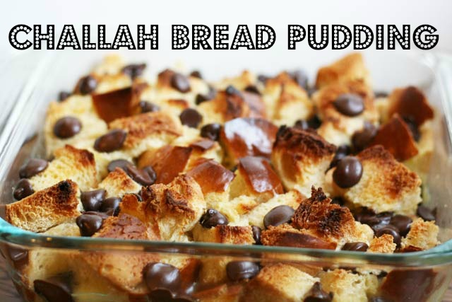 Paleo Chocolate Challah Bread Pudding