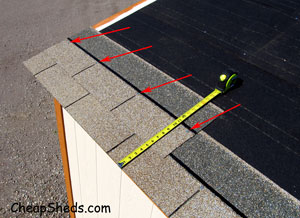 storage shed shingle overlap