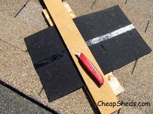 cut end shingles storage shed roof