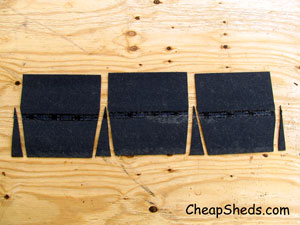 cut ridge caps shingle roof