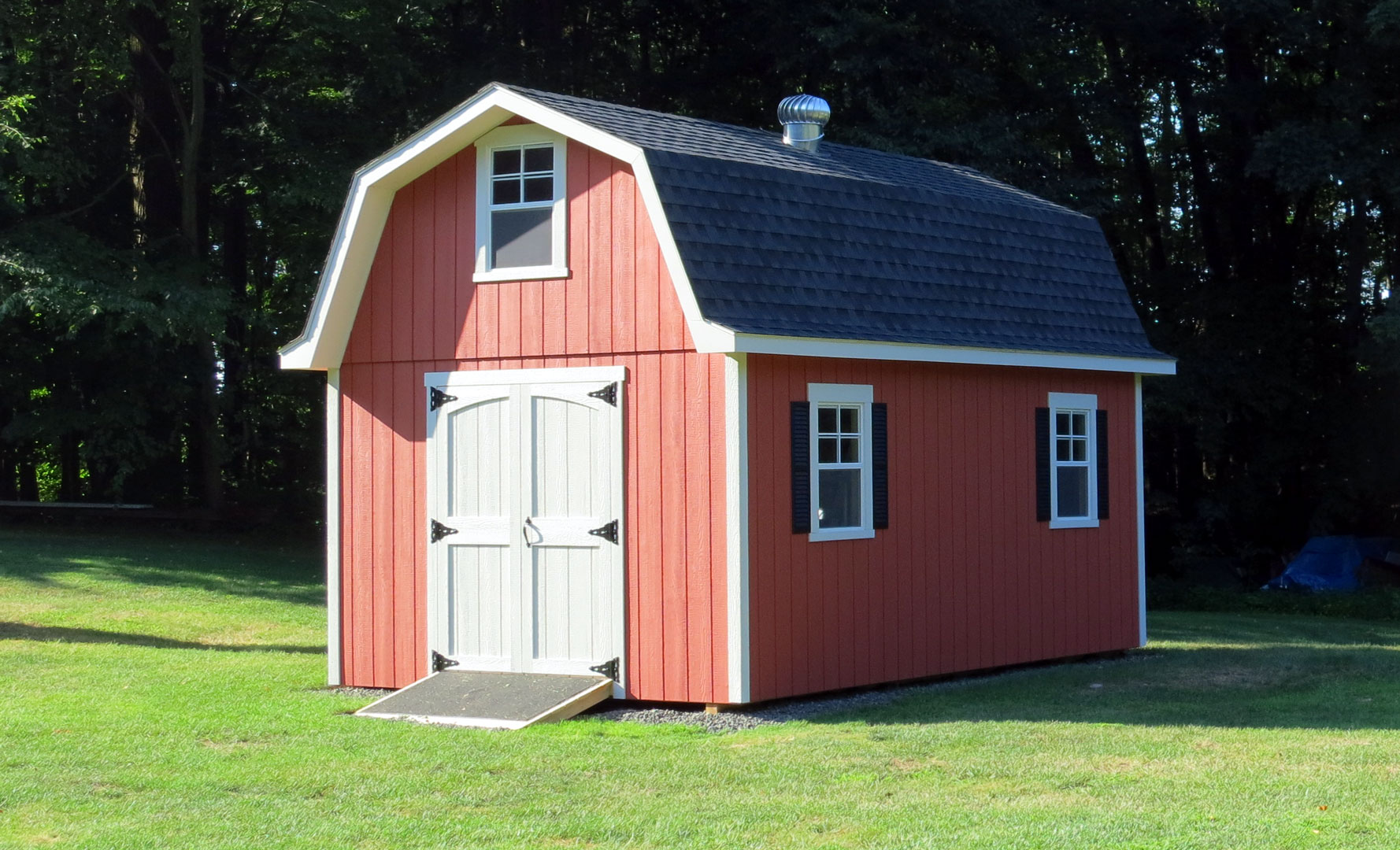 Tall gambrel barn style sheds for Barn roof plans