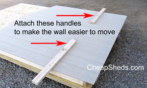 move a shed wall easily
