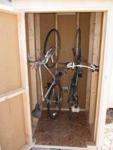 vertical bike storage shed