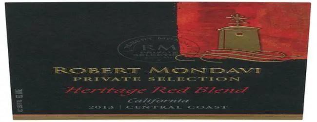 Robert Mondavi Heritage Red Blend 2013