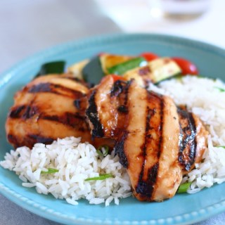 A sticky, sweet, and savory grilled chicken is the perfect summer dinner for home or neighborhood BBQ. Three ingredients and you don't heat the house up. Everyone loves this one; kids and grownups alike!