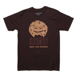 pastry chef tshirts baked goods brown