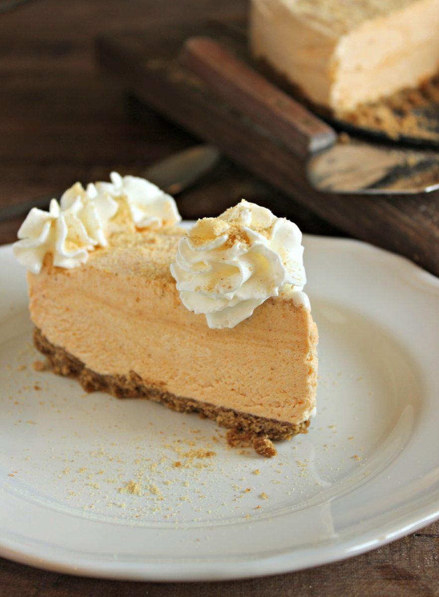 Frozen Pumpkin Pie Cheesecake | Chelsea's Messy Apron
