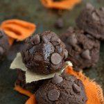 No Bake + 4-ingredients Brownie Pumpkin Cookies