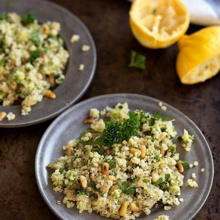 Pine Nut Broccoli Quinoa