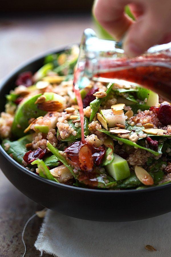 Easy Almond Apple Quinoa Salad | Chelsea's Messy Apron