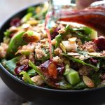 Simple Quinoa, Cranberry, Almond, Apple Salad