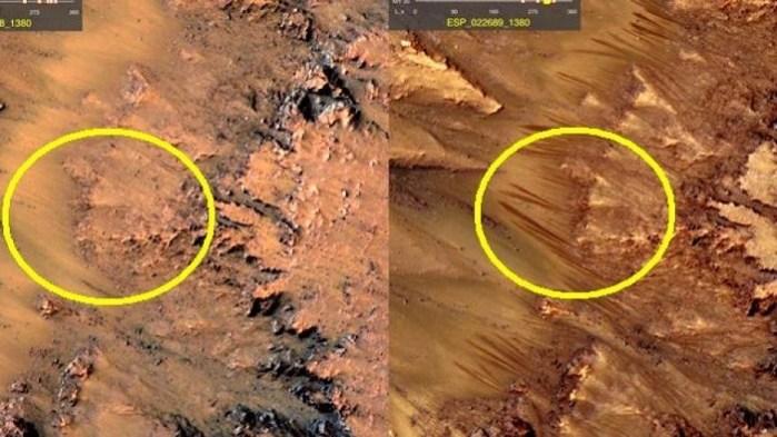 Η NASA επιβεβαίωσε το νερό του Άρη