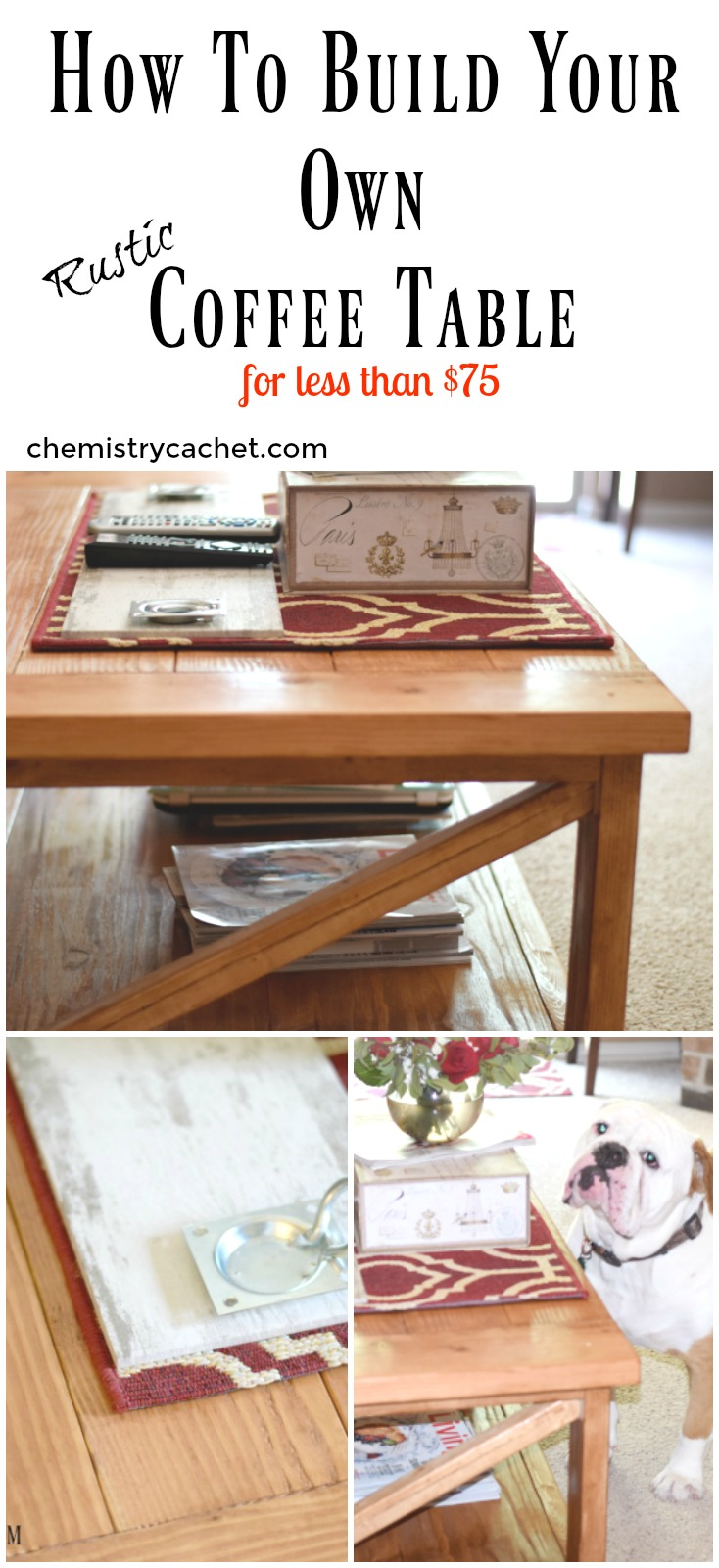 How To Build Your Own RUSTIC Coffee Table For Around 75 On