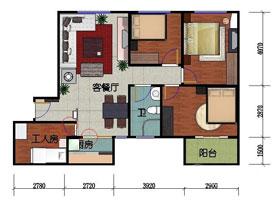 Chinese kitchen floorplan