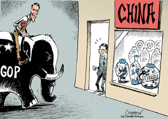 Romney China comic