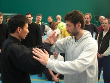 Maestro Chen Bing e Eugenio a Milano