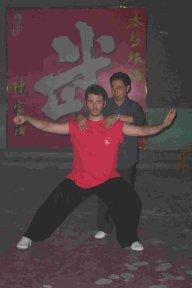 Con il Maestro Chen Xiaoxing a Chenjiagou (2005)