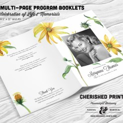 Daisies Multi-Page Program Booklet