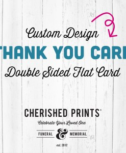 Custom Thank You Card Design - Double Sided Flat Card Design