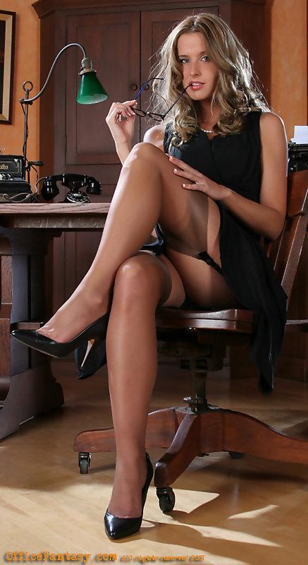 stockings mature legs spread wide