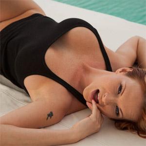 christine mendoza shows her boobs