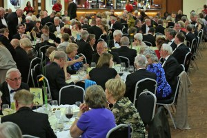 nearly 600 guests thoroughly enjoying the evening