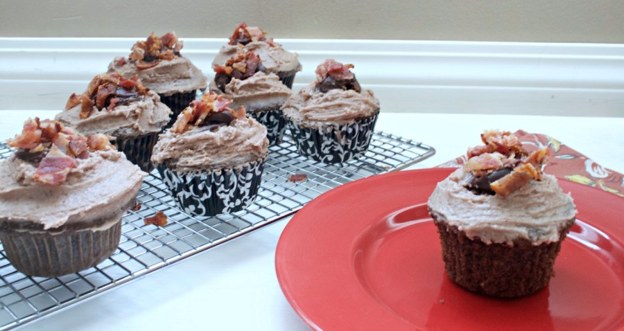 Bacon Bourbon Chocolate Cupcakes