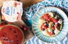 La ricetta della Fruitpizza di anguria con la Crema dolce alla ricotta Galbani