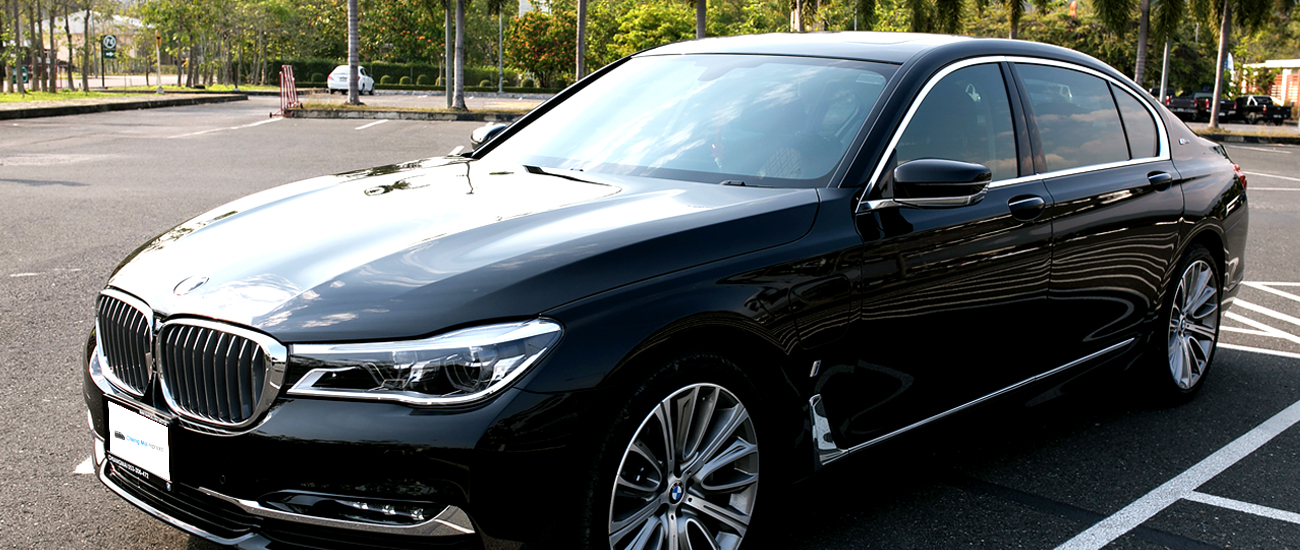 bmw series7 car for rental in Chiang mai Chiang rai lamphun black luxurious sport car_chinese