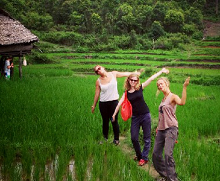 Working and hiking in the rice fields; one of the best ways to experience the essence of northern Thailand!