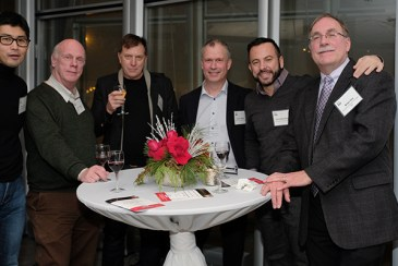 CBC researchers form UIC (from the left): Akira Yoshii, Scott Brady, Greg Thatcher, Simon Alford, Gerardo Morfini and Brian Kay