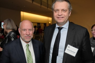 Terry Mazany, President and CEO of The Chicago Community Trust (left), and Daniel Diermeier, UChicago Provost