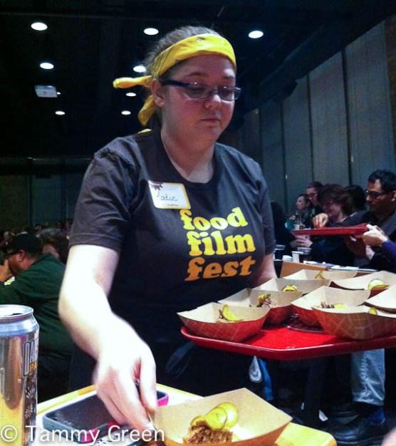 Serving at Food Film Fest