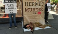 PETA Protests Outside Chicago Hermès Store