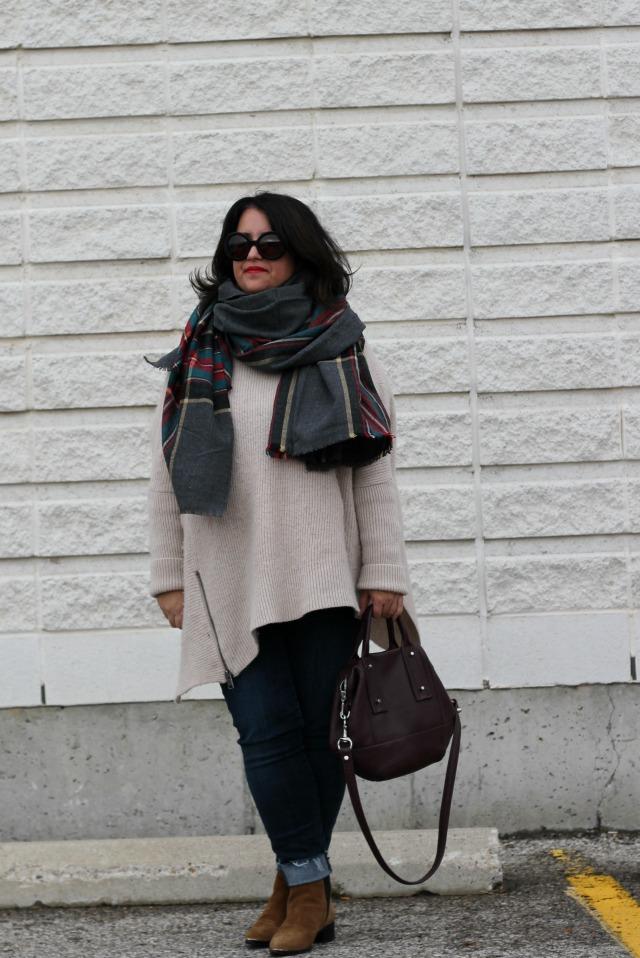 grey paid asos scarf