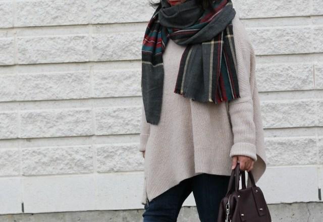 grey asos scarf