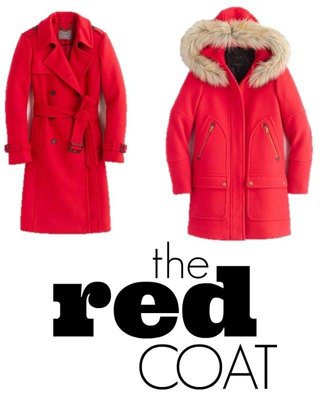 jcrew red coat