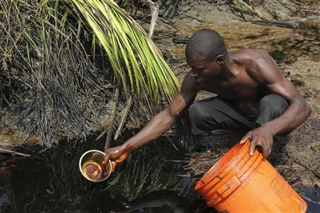 Who owns the crude oil in Nigeria?
