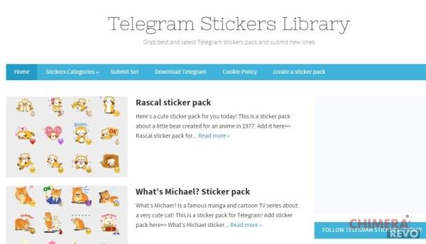 sticker per telegram