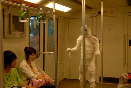 The Shanghai Metro Mummy.