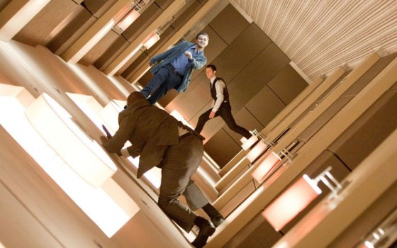 "Leonardo DiCaprio ""strutting"" photoshop: Inception."