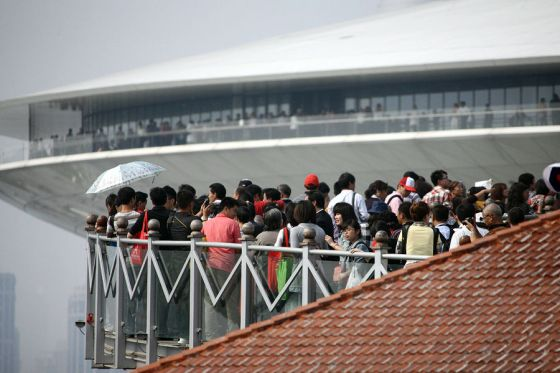 Massive crowds at the 2010 Shanghai World Expo.