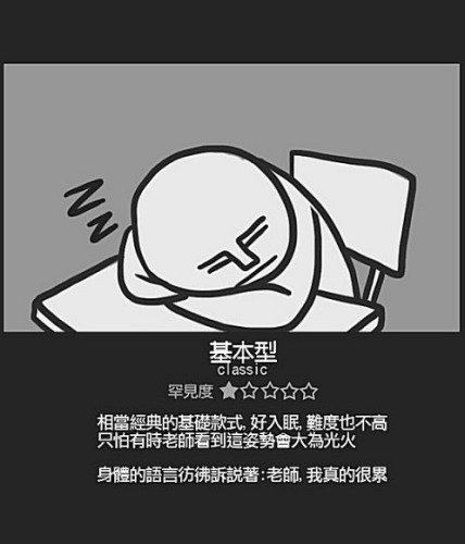 Chinese student sleeping positions: Classic.