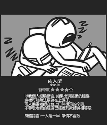 Chinese student sleeping positions: Double