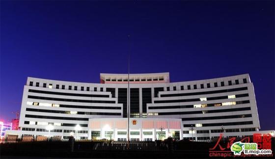 A Chinese government building in Yantai city of Shandong province, China.