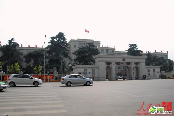 A Chinese government building in Anhui, China.