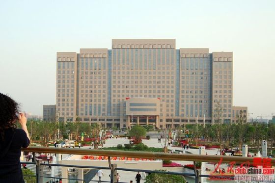 A Chinese government building in Xinxiang city of Henan, China.